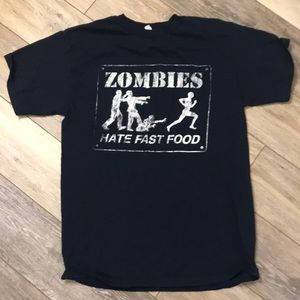 Zombies Hate Fast Food Graphic T-Shirt